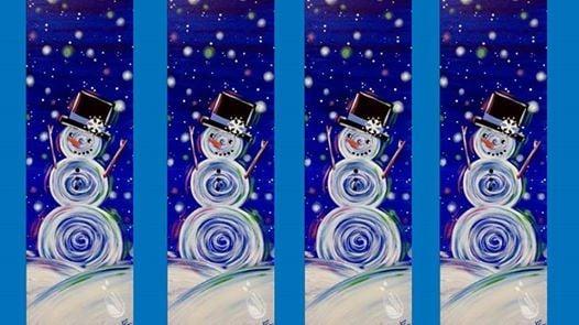 Large Canvas Snowman Paint Party Houston