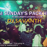 Most Happening Desi Sundays with Dj Savanth at No Limmits