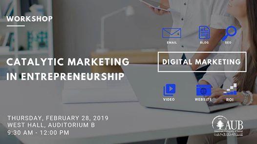 Workshop on Catalytic Marketing in Entrepreneurship