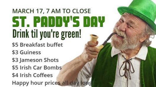 Kegs & Eggs St Paddys Day Event