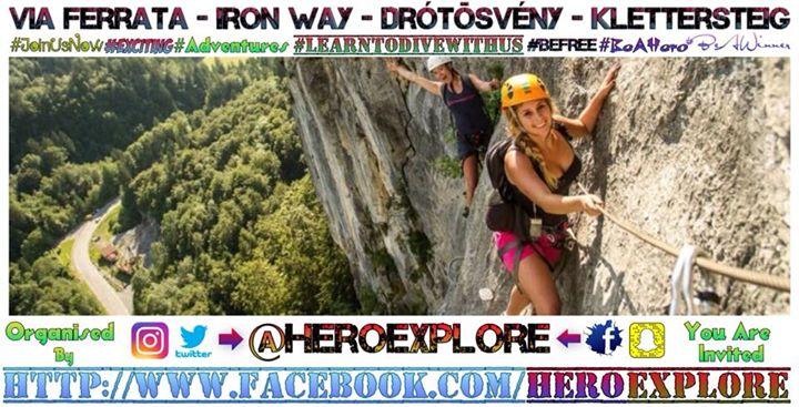 Klettersteig Levels : Via ferrata iron way drótösvény klettersteig at the counting