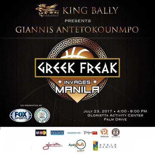 Giannis Antetokounmpo the Greek Freak Invades Manila