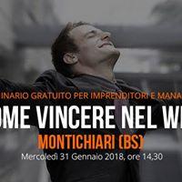 Seminario Gratuito - Come Vincere nel Web (Montichiari - BS)