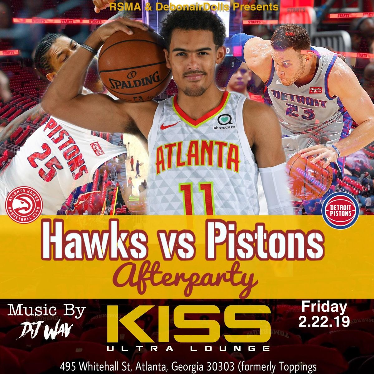 HAWKS VS PISTONS AFTER-PARTY