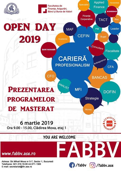 Open Day Masterat Fabbv 2019