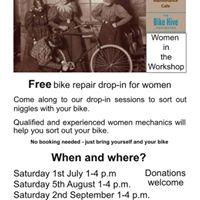 Women In The Workshop bike repair drop-in