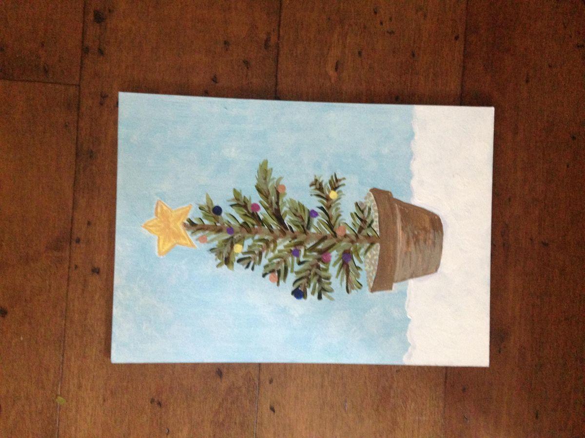 Pour & Paint Christmas Tree