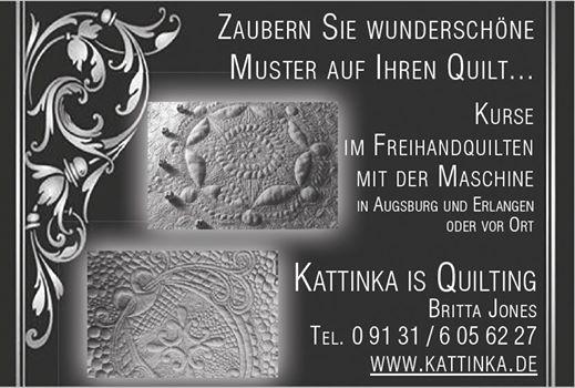 Kurs Freihandquilten fr Anfnger in Augsburg