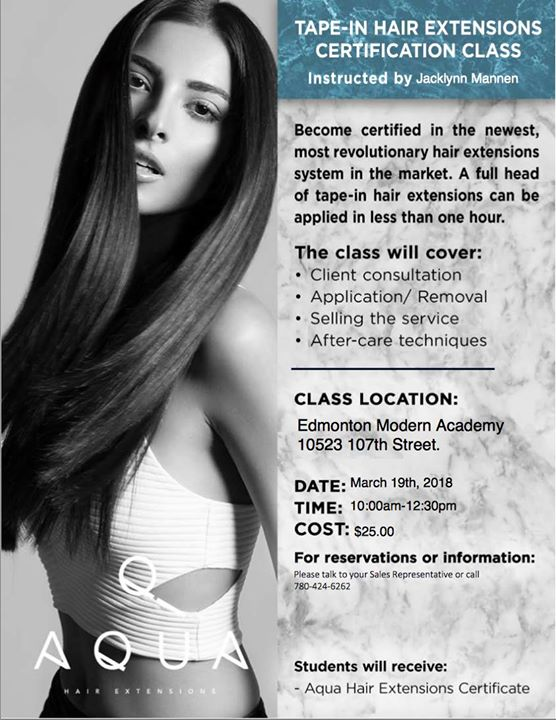 Aqua Hair Extensions Certification Edmonton At Modern Beauty