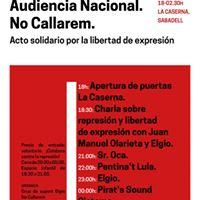 No Callarem Sabadell FRAC Pirats Senyor Oca Elgio i ms