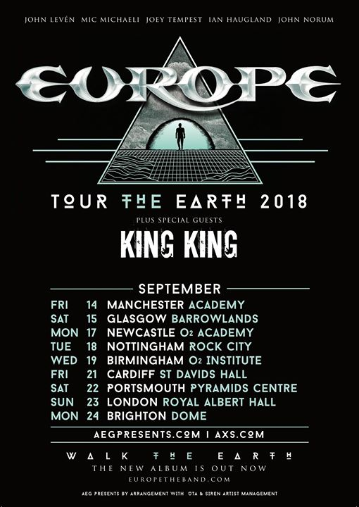 Manchester (UK) - Europes Tour the Earth 2018