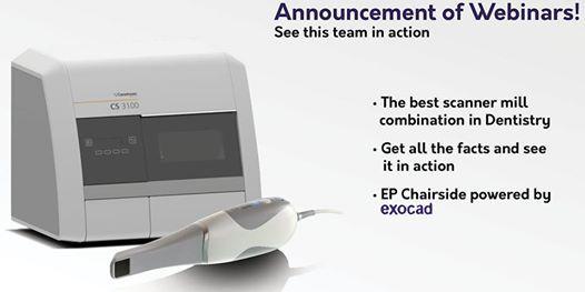 Demonstration / Webinar - CS3600    EP Chairside     CS3100