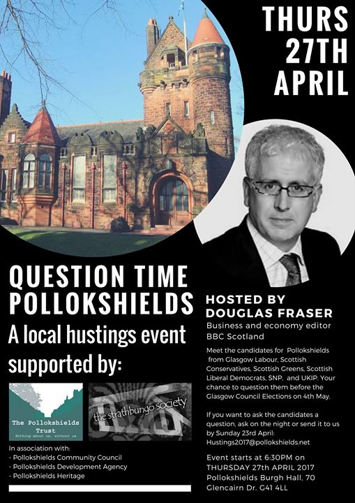 Pollokshields Question Time - a local hustings event