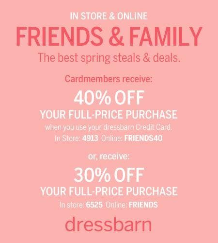 DRESSBARN FRIENDS AND FAMILY EVENT