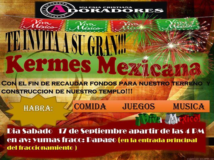 Kermes Mexicana At Avenida Yumas Fracc Infonavit Papago Mexicali