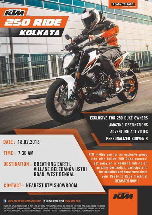 Kolkata KTM 250 Ride