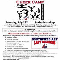 Southfield Summer Cheer Camp
