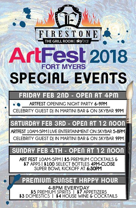 Firestone Hours Sunday >> Art Fest At The Firestone Fort Myers