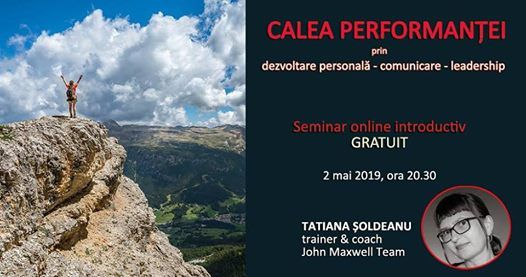 Calea performanei - seminar online introductiv gratuit
