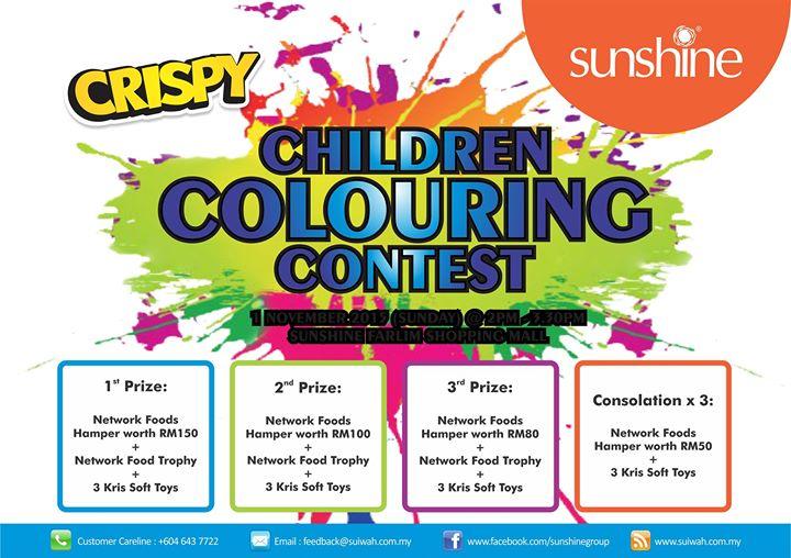 Chrispy Children Coloring Contest at Sunshine Farlim, Penang