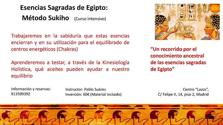 Egencias Sagradas de Egipto Mtodo Sukiho (Curso intensivo)