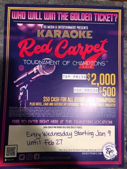 Karaoke contest at The Avenue Bar and Grill LLC311 Corunna Ave
