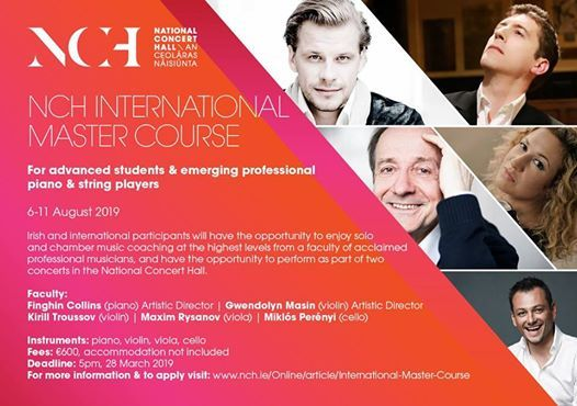 NCH - International Mastercourse for Piano and String Musicians