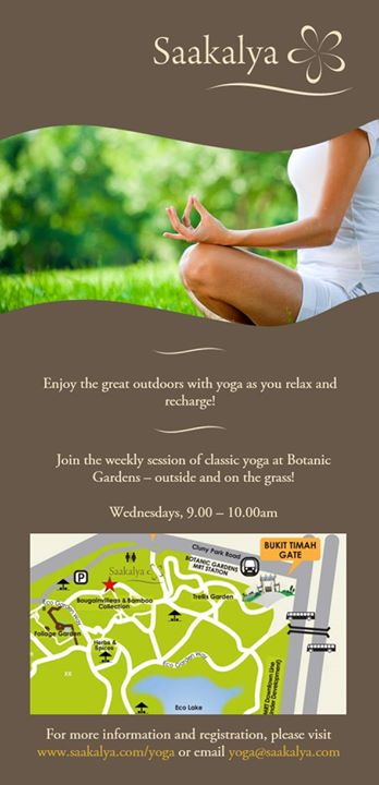 Yoga at Botanic Gardens