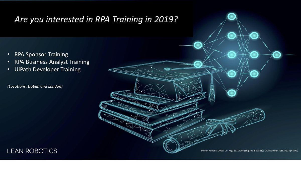 Robotic Process Automation (RPA) Introduction  Sponsor Training