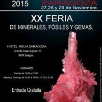 INTERMINERAL 2015 ZARAGOZA   Feria de Minerales Fsiles y Gemas
