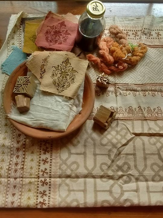 Block printing and Dyeing with Natural dyes