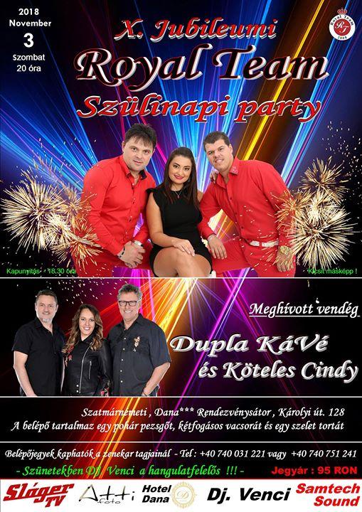Royal Team 10-ik Szlinapi Party