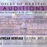 Voices of Heritage Auditions
