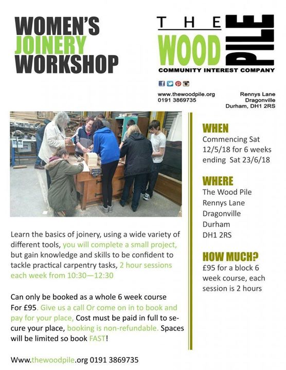 Mixed Joinery Workshop At The Wood Pile Durham