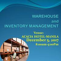 Warehouse and Inventory Management Seminar