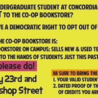 Co-op Bookstore Opt Out of Awesomeness