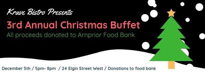 3rd Annual Charity Christmas Buffet