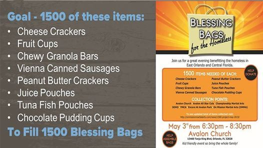 Blessing Bags for the Homeless at Avalon Church, Florida