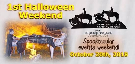 1st halloween 2018 events weekend at artillery ridge campground