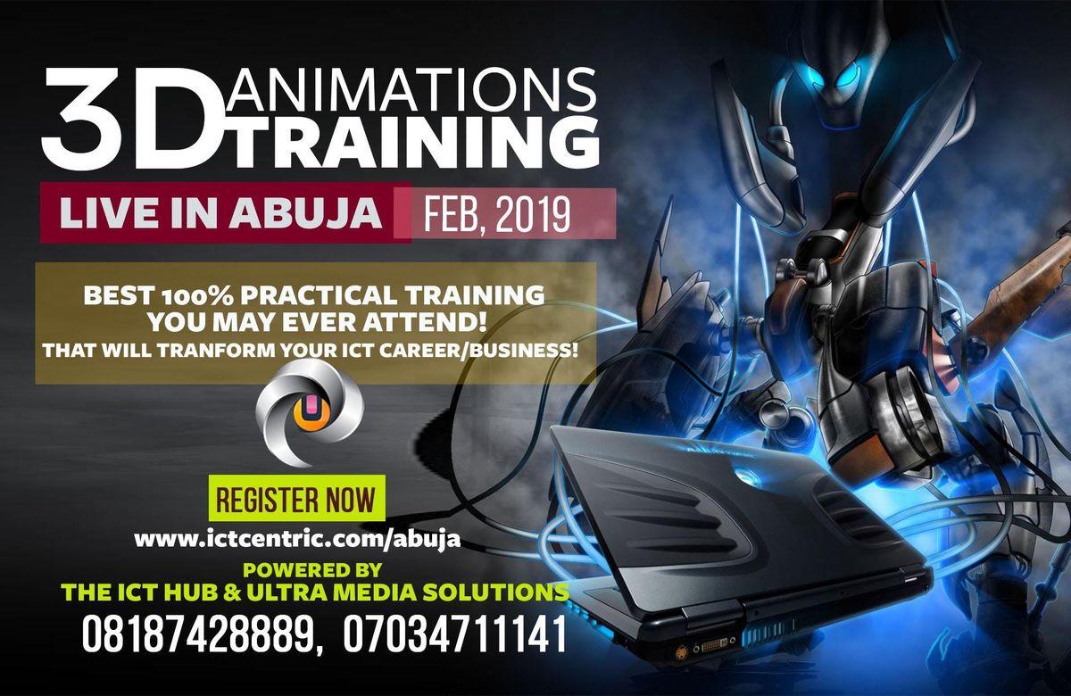 3D MASTER ANIMINATION MASTER CLASS TRAINING IN ABUJA