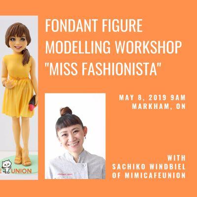 """Miss Fashionista"" Fondant Figure Modelling Workshop with Sachiko"