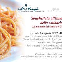 Spaghettata allamatriciana della solidariet