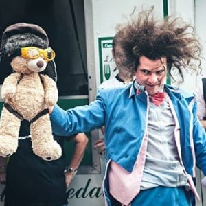 Clown and teddybear in Beirut