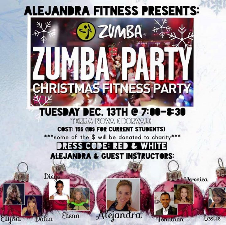 Zumba Christmas Fitness Party at 298 Avenue Brookhaven, Dorval, QC ...