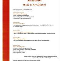 Mitchells Winery &amp The Balcony Restaurant Wine &amp Art Dinner