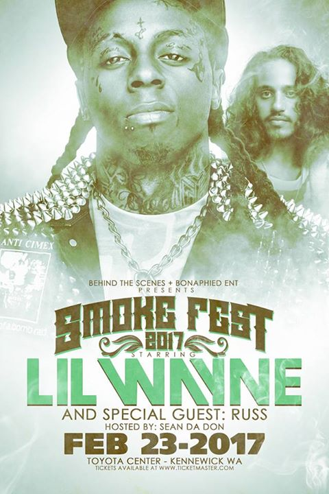 Lil Wayne And Russ (Smoke Fest 2017) at Toyota Center, Kennewick
