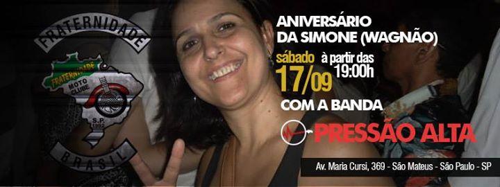 0a5fc6af9dbcd Aniversário da Simone (Wagnão) no Fraternidade Moto Clube