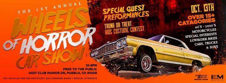 Wheels Of Horror CAR SHOW At Shaman Labs Smoke Shop Pueblo - Pueblo car show