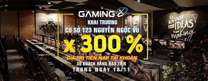 X3 Tài Khoản Khai Trương Gaming X 123 Nguyễn Ngọc Vũ