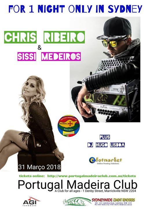 Chris Ribeiro with Sissi Medeiros live in Sydney